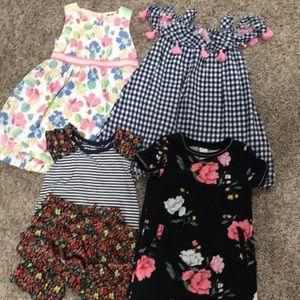 Girls' dresses   5 pieces   size 24 months & 2t
